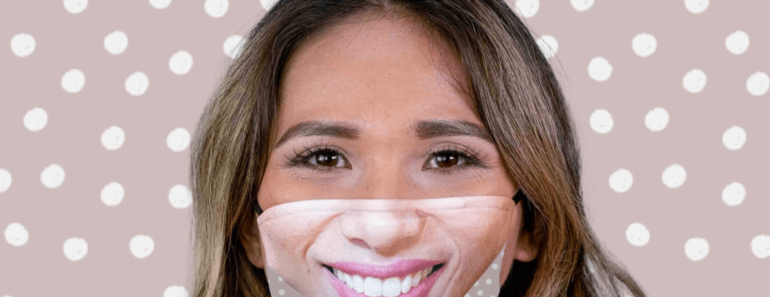 selfie face masks from Friendly Face
